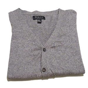 [21 Men] Gray Button Down Cardigan- Size M